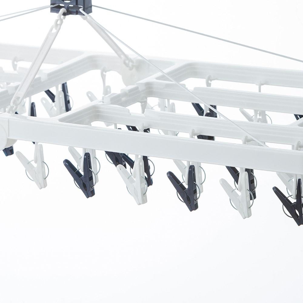 【2019春夏】大きな洗濯ハンガー 60ピンチ ネイビー