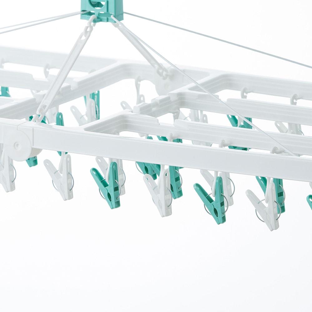 【2019春夏】大きな洗濯ハンガー 60ピンチ ミントグリーン