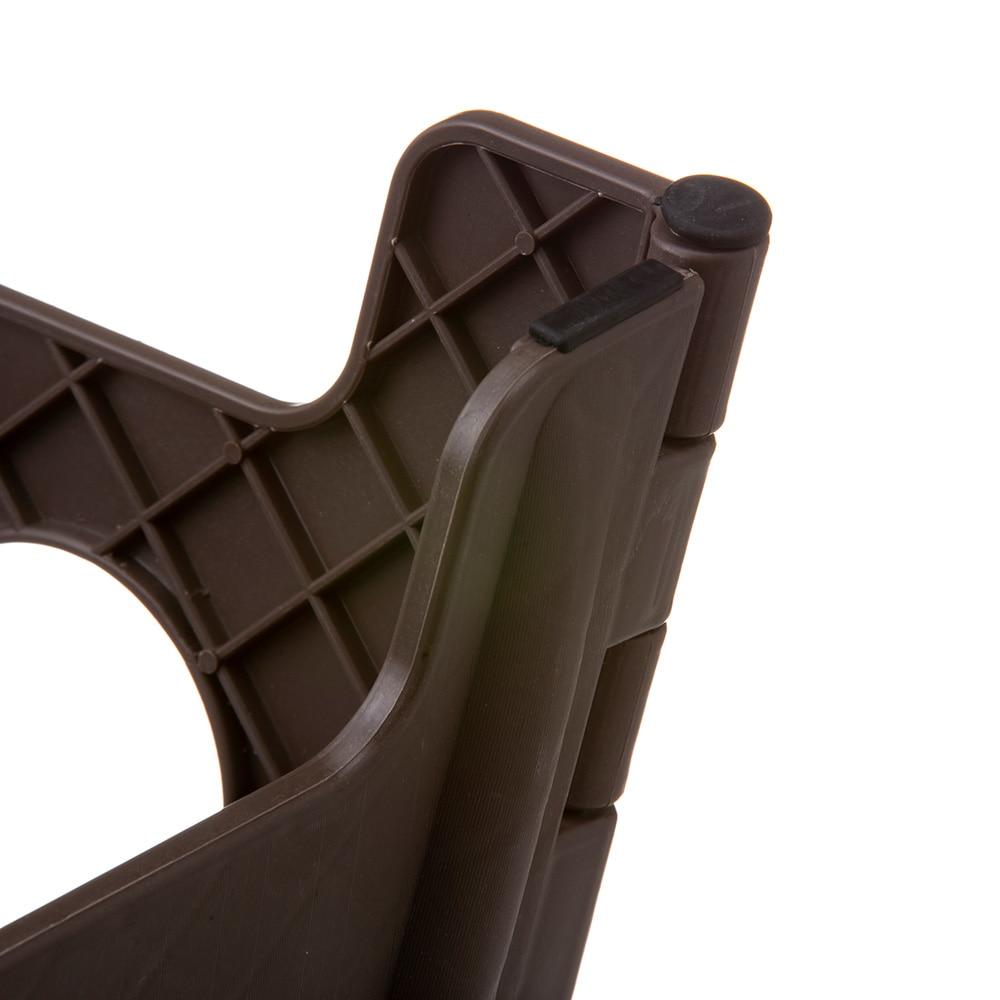 持ち運びしやすい折り畳み踏み台 ハイタイプ ブラウン
