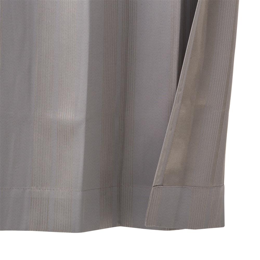 断熱・遮光4枚組セットカーテン ヴェントス100×210 グレー