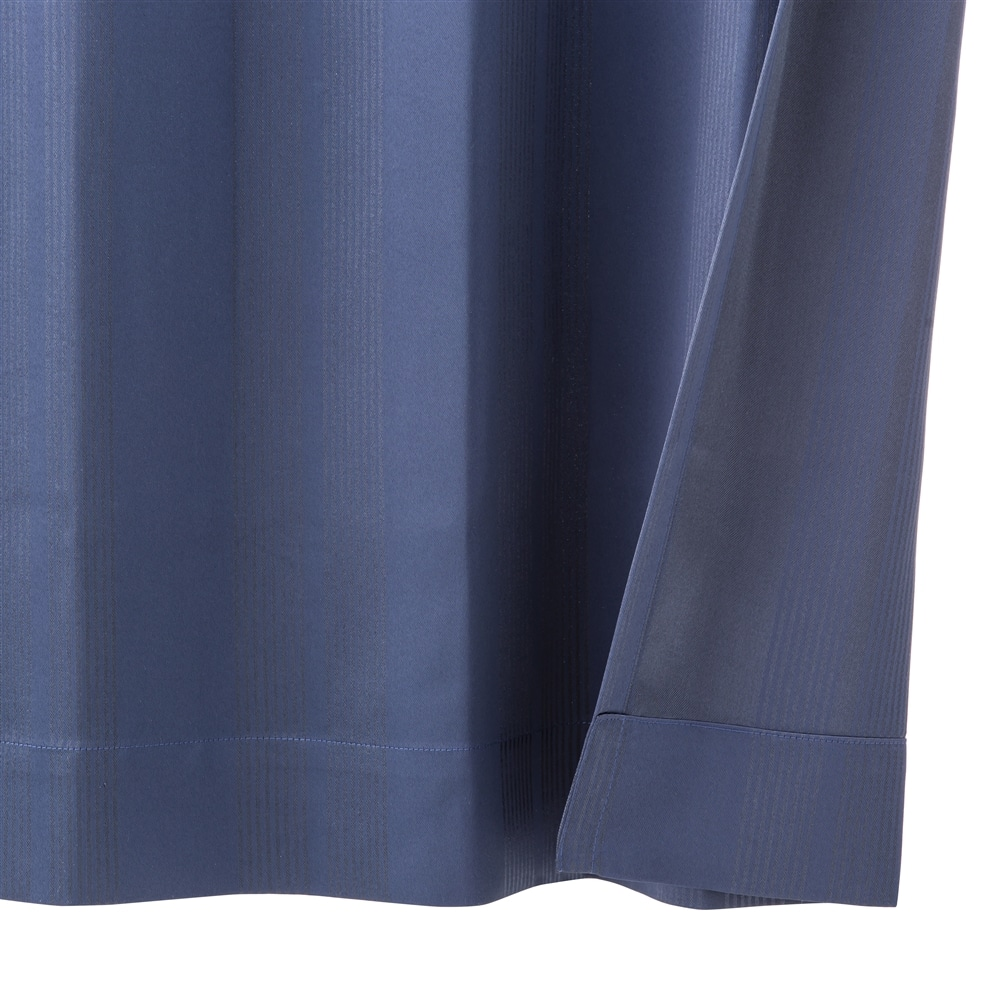 断熱・遮光4枚組セットカーテン ブラウ 100×200 ネイビー