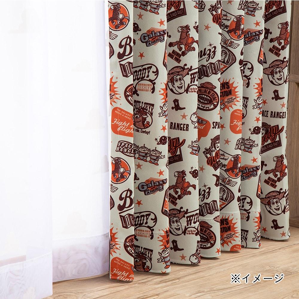 【数量限定】遮光4枚組セットカーテン トイストーリー 100×178