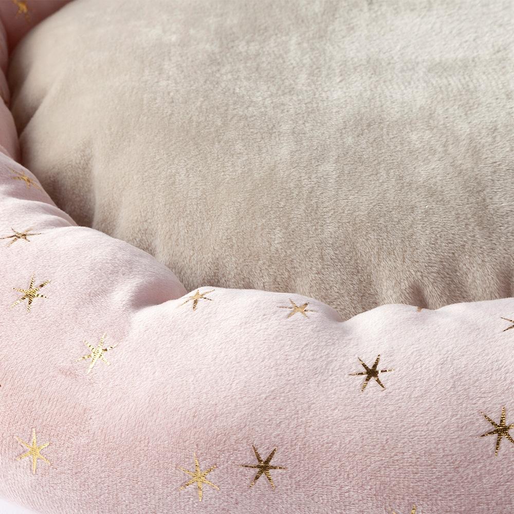 【2019秋冬】まんまるベッド 星柄ピンク レギュラー