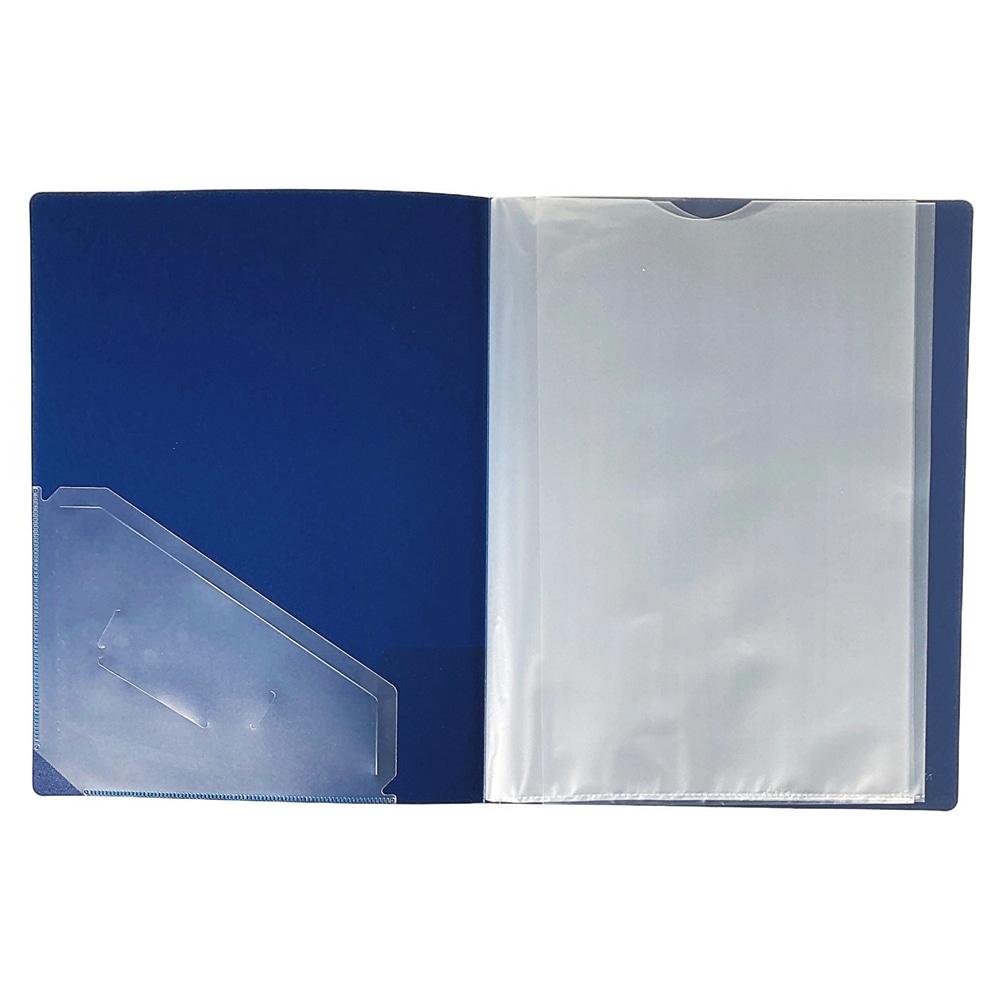 取り出しやすいクリアブック A4 10P BL