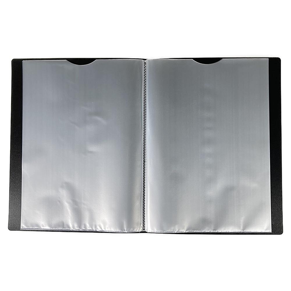 取り出しやすいクリアブック A4 20P BK