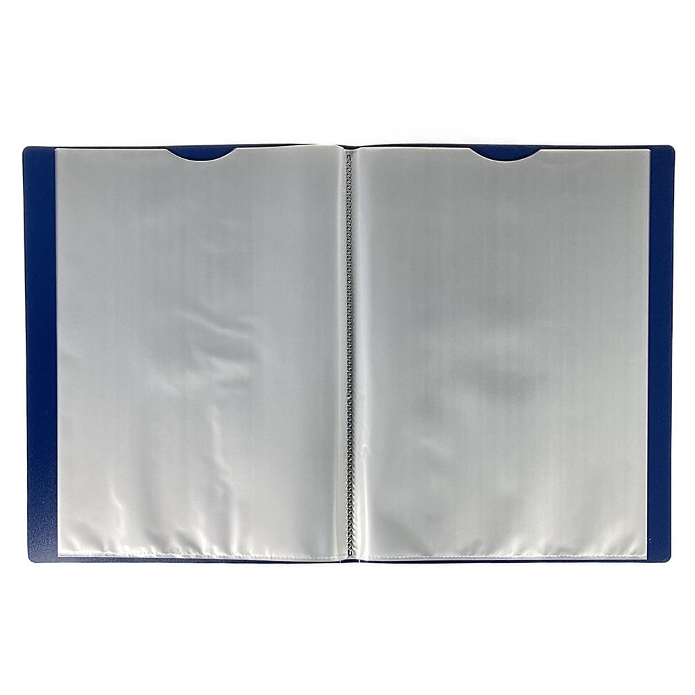 取り出しやすいクリアブック A4 20P BL
