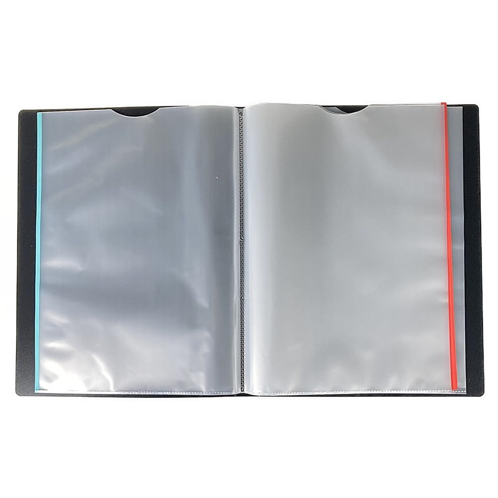 分類しやすいクリアブック A4 40P BK