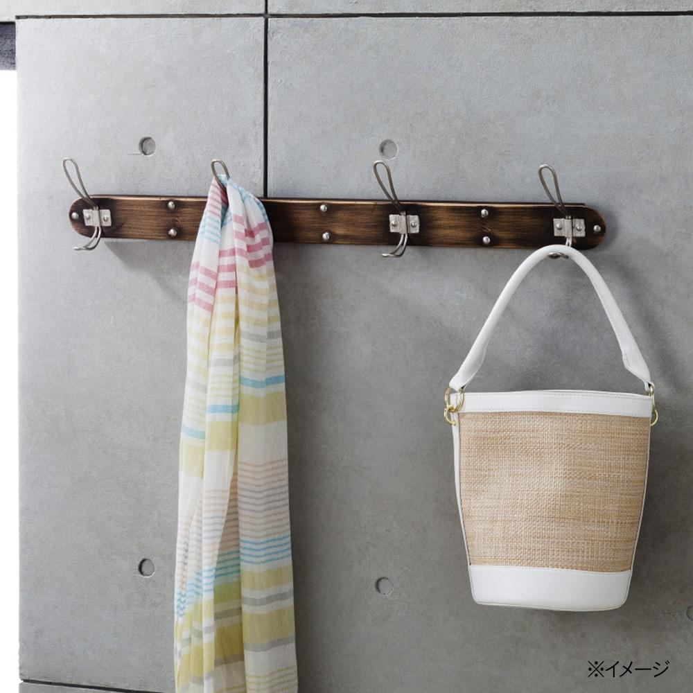 壁掛け衣類ハンガーアイアンフック 4連