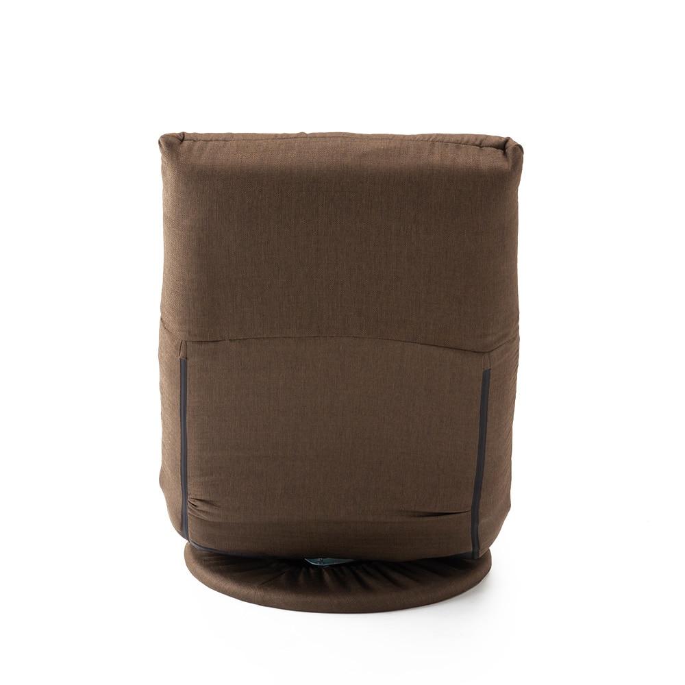 からだをしっかり包み込む回転座椅子 ブラウン