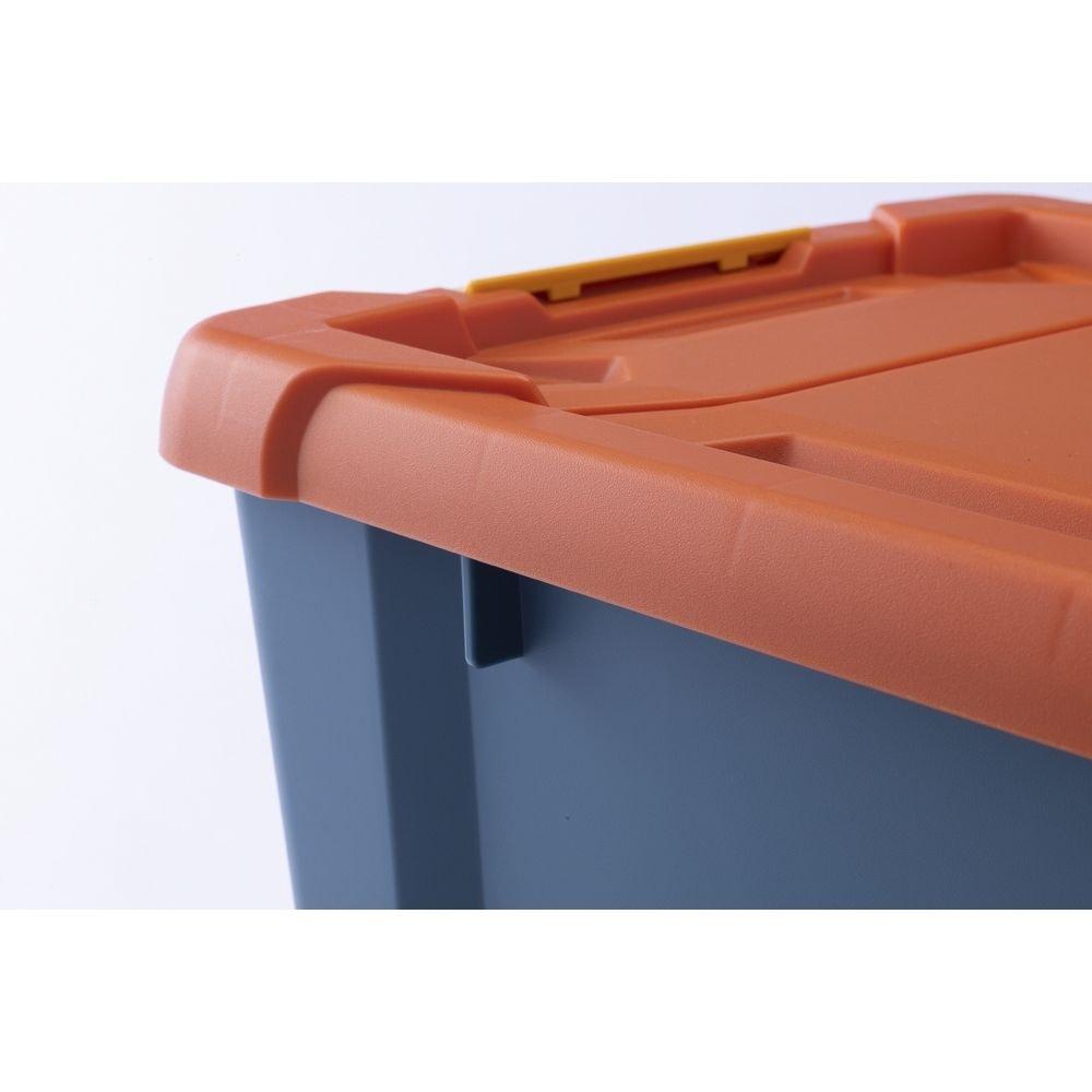 Kumimoku バックル付きストッカー 浅型 オレンジ/ブルー