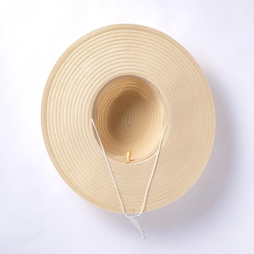 洗える麦わら風帽子 大 ベージュ