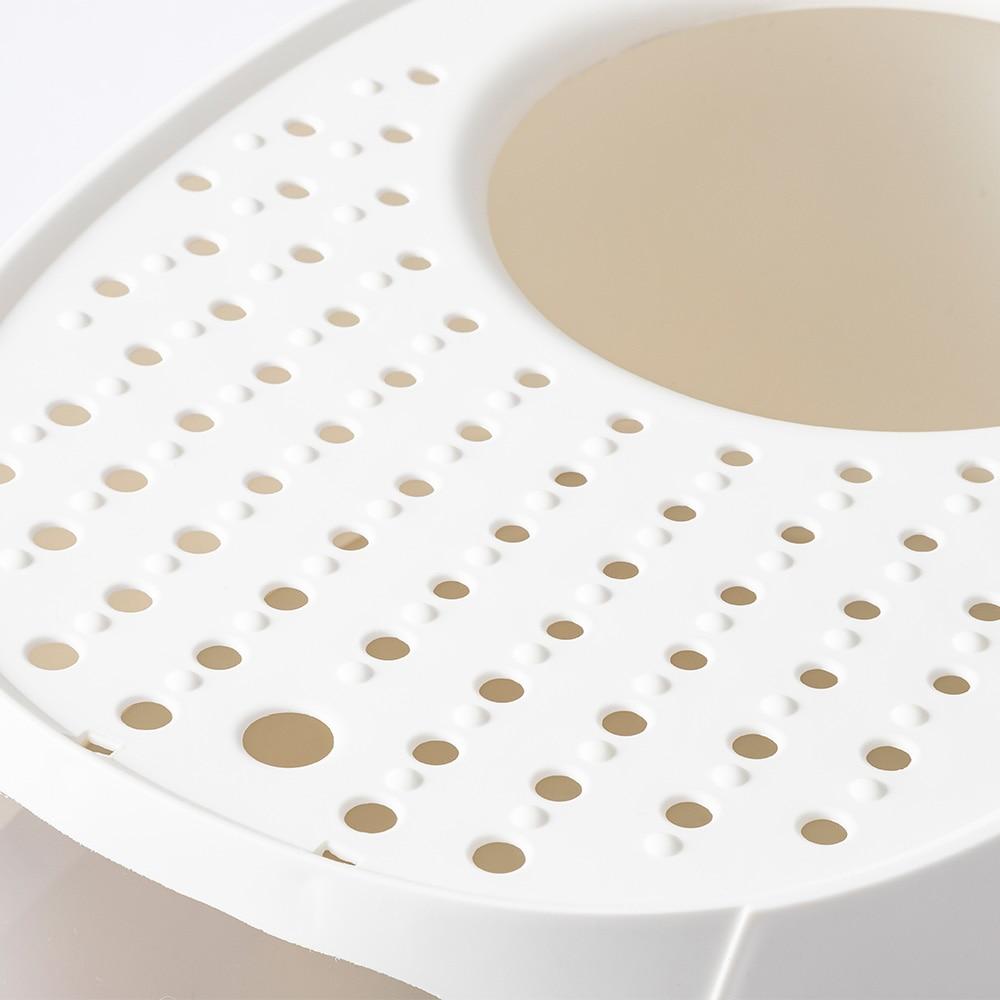 Pet'sOne キャットトイレ 上から出られるフード付き ホワイト