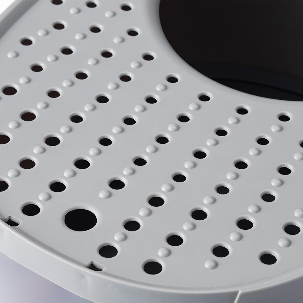 Pet'sOne キャットトイレ 上から出られるフード付き グレー