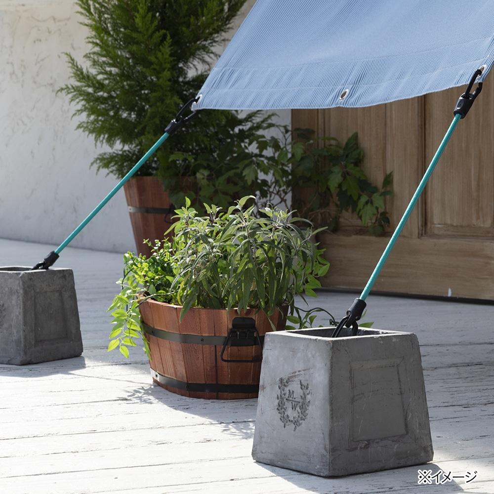 日よけ さびにくく外れにくいロープ ターコイズブルー 30cm