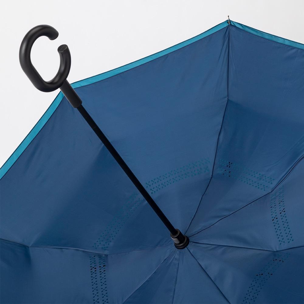 両手が使える逆さ傘 60cm ブルー