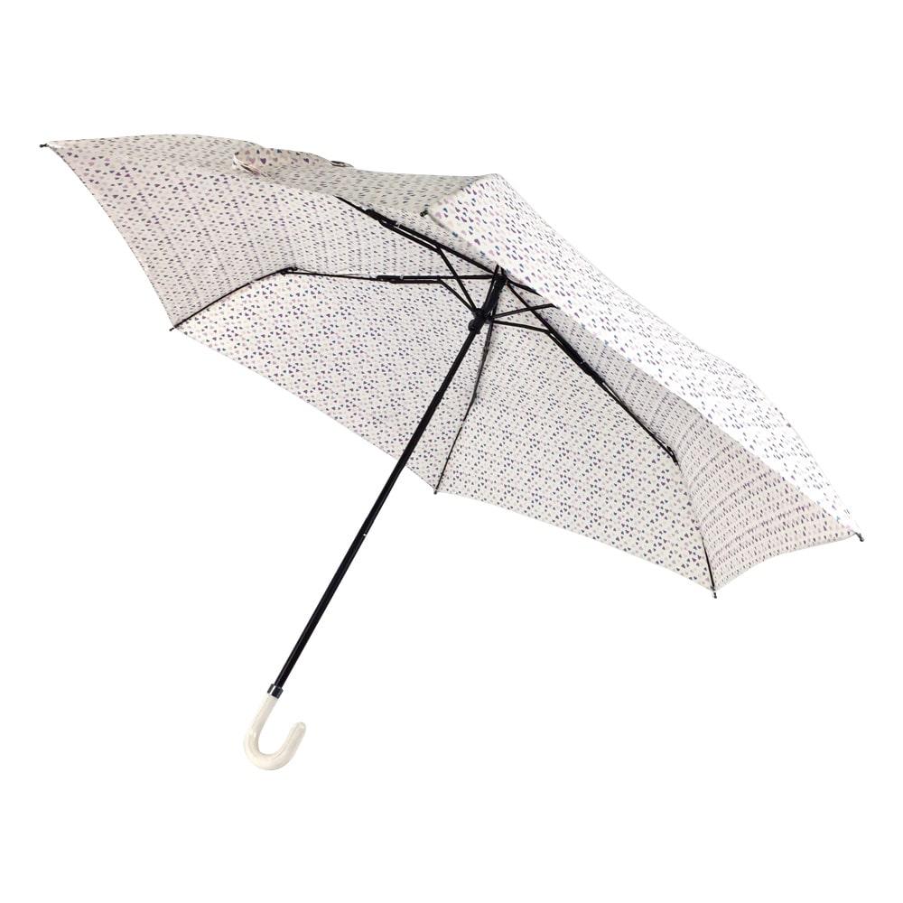婦人折りたたみ傘 ハート柄 50cm