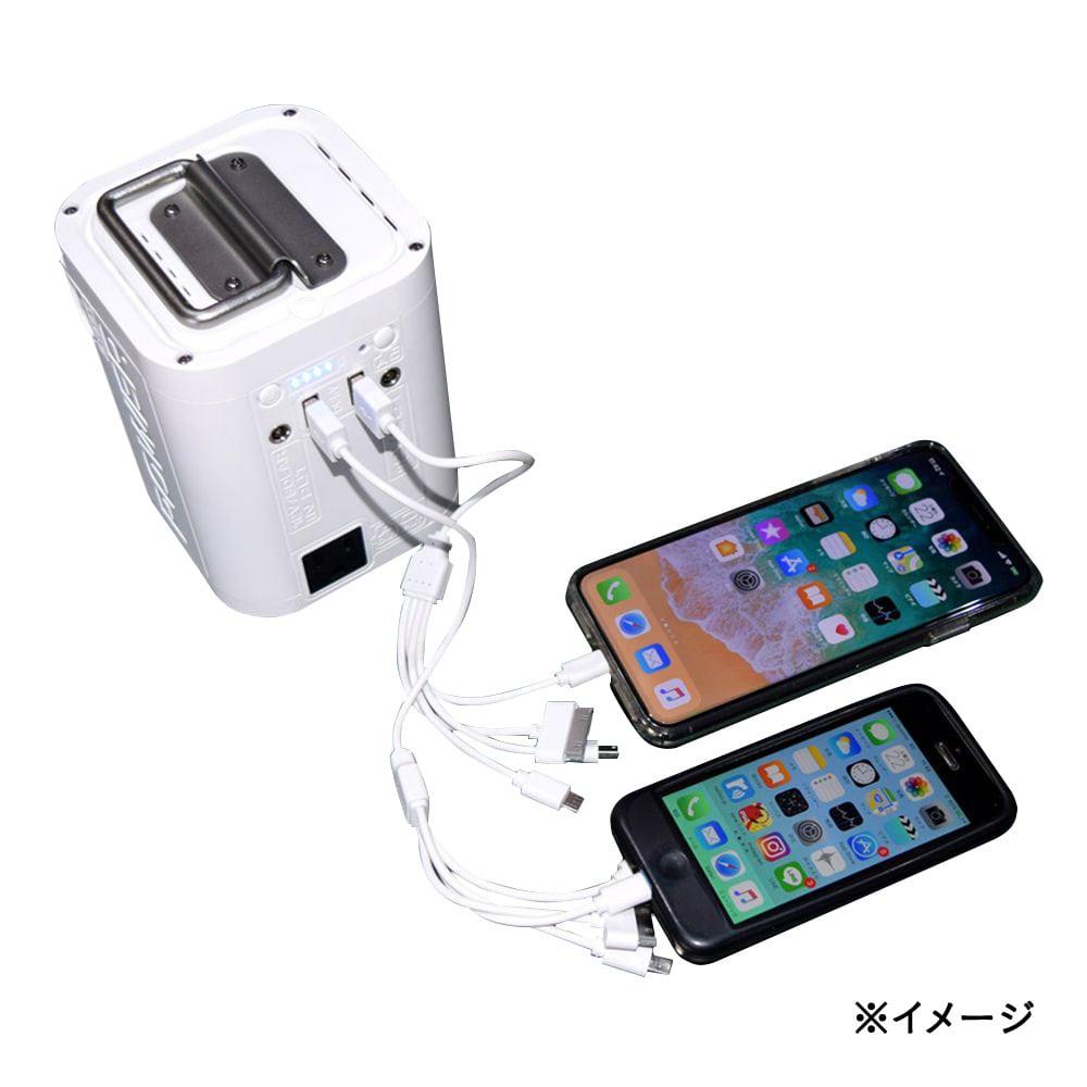 三金商事 PB268-W ポータブルマルチ電源 ピュアホワイト【別送品】