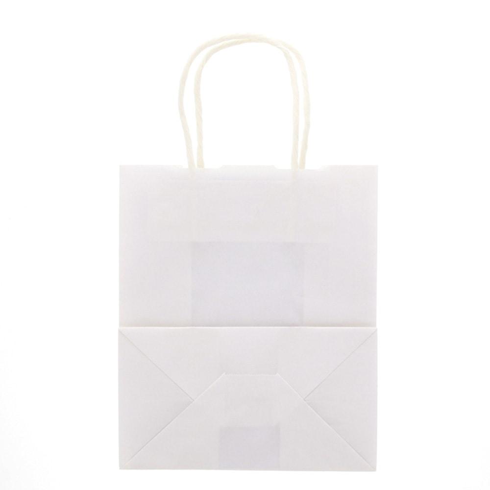 HEIKO 紙袋 25CB手提げ袋 21-12 白無地50枚入
