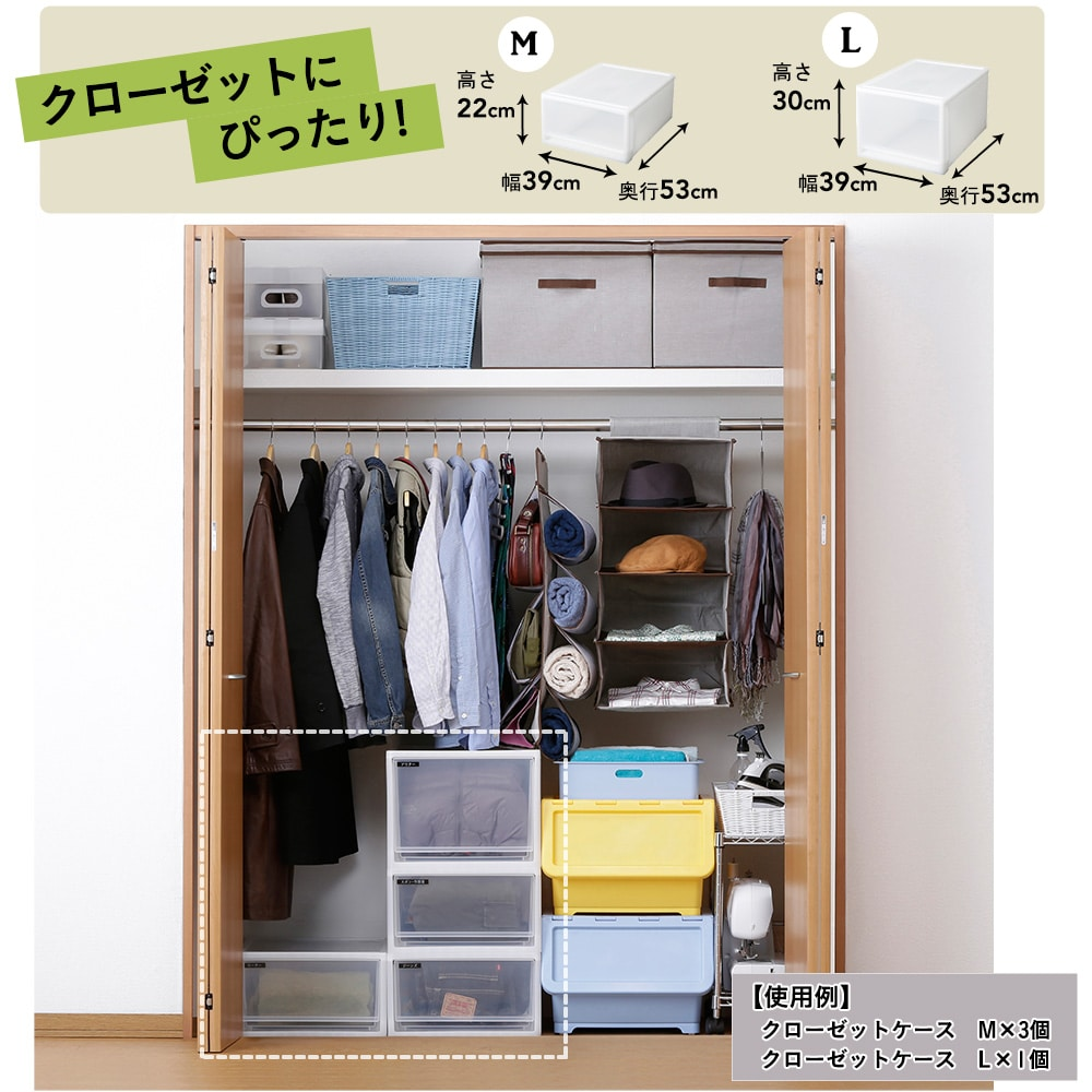 クローゼットケース  M 【別送品】