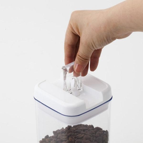 片手で開け閉めができる保存容器 正方形 1000ml