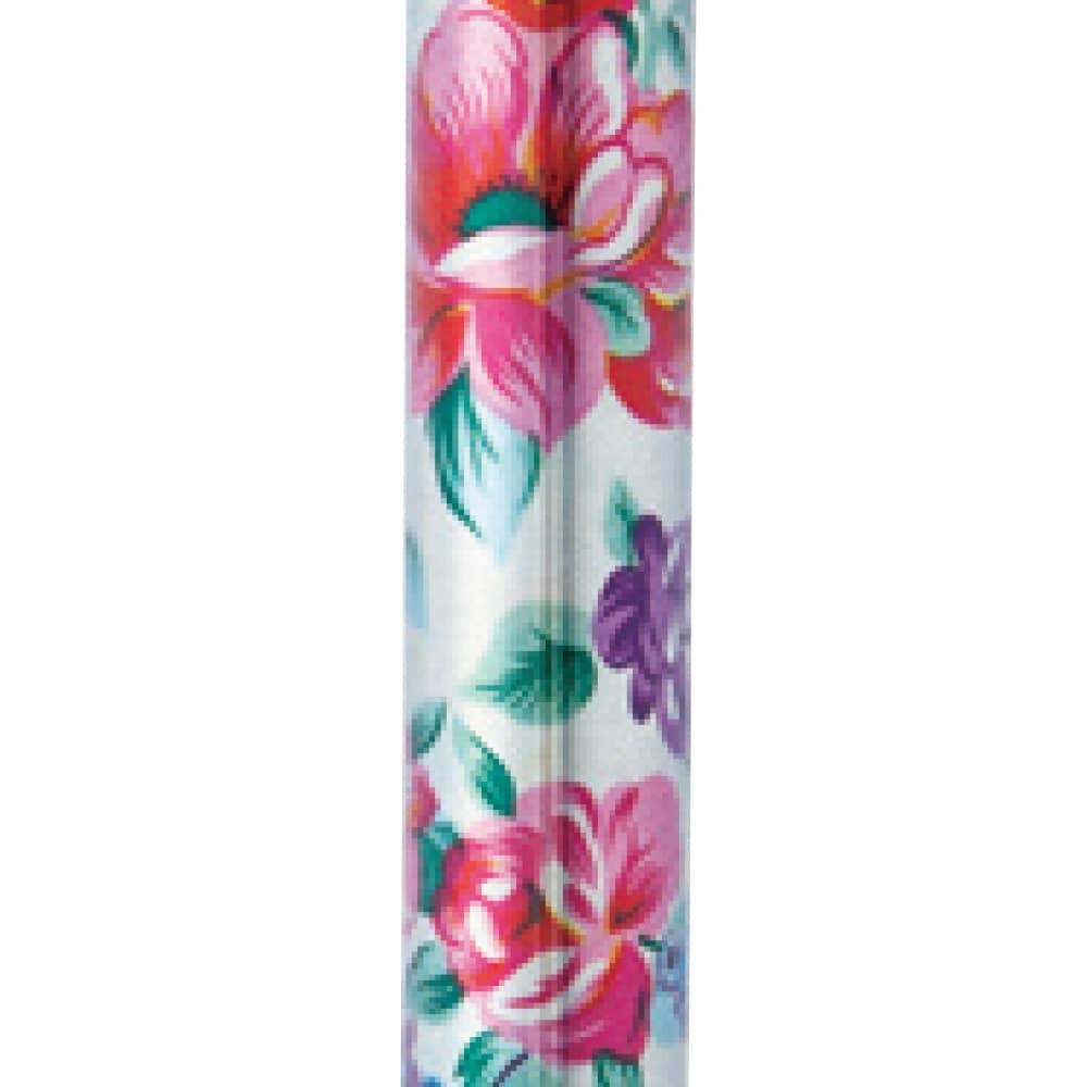 CAINZ 花柄折畳式ステッキ シルバー