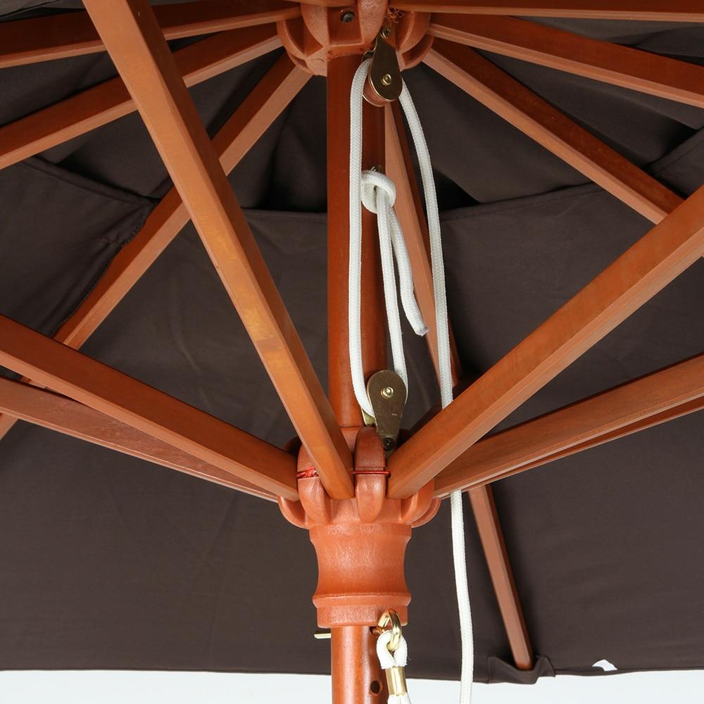 木製パラソル 210cm アイボリー【別送品】