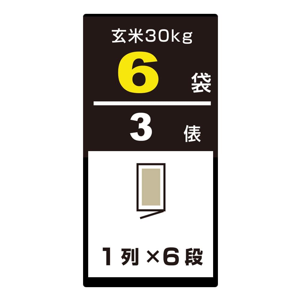 アルインコ 米っとさん 玄米専用保冷庫 HCR06E 6袋用(3俵用)【別送品】【要注文コメント】