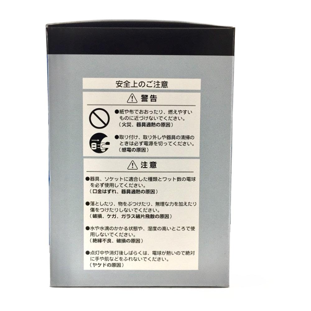 白熱ボール電球 100W E26 G95 ホワイト LB-G9600K-WLL