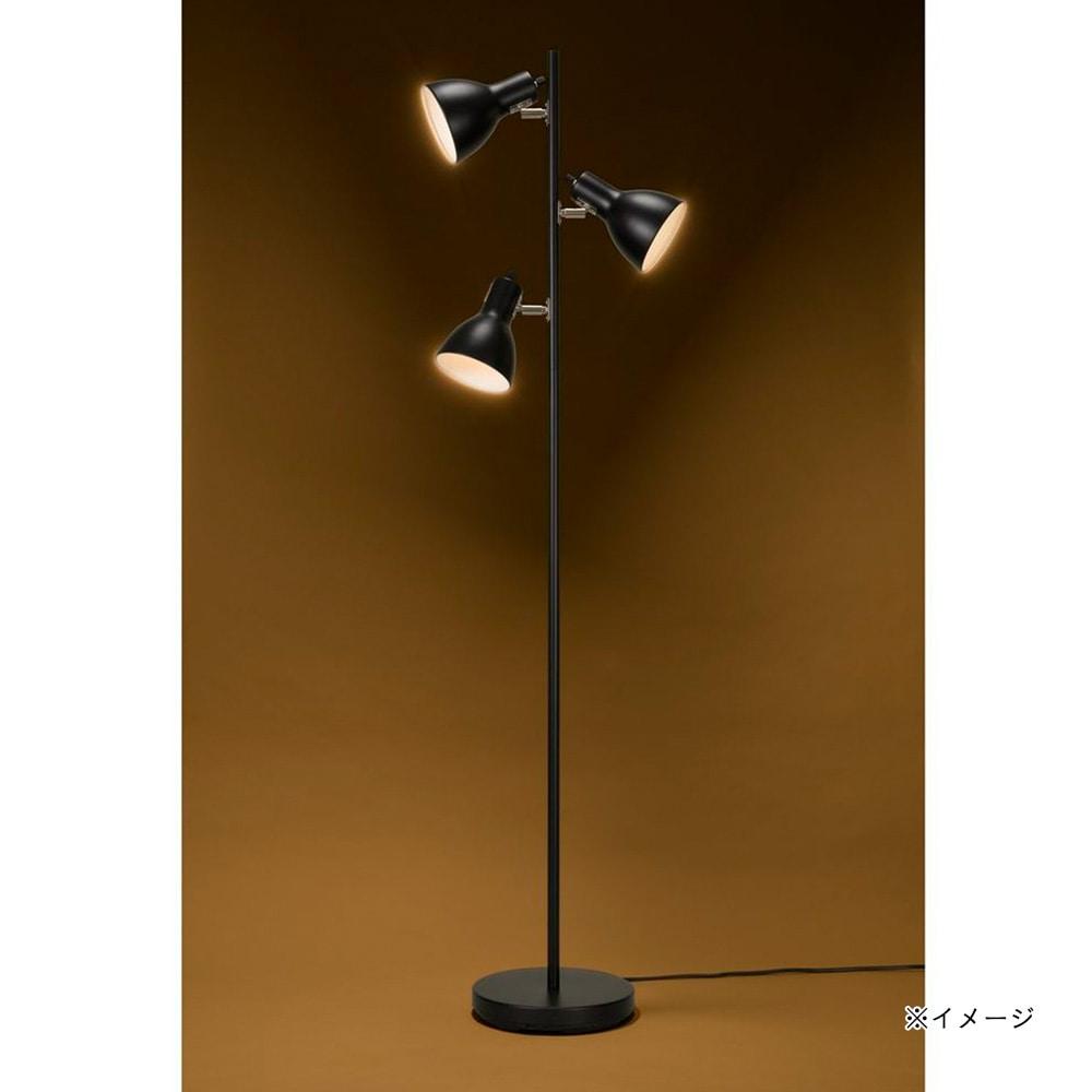 オーム電機 フロアスタンド ブラック 3灯 TF-YN30BW-K 06-1497