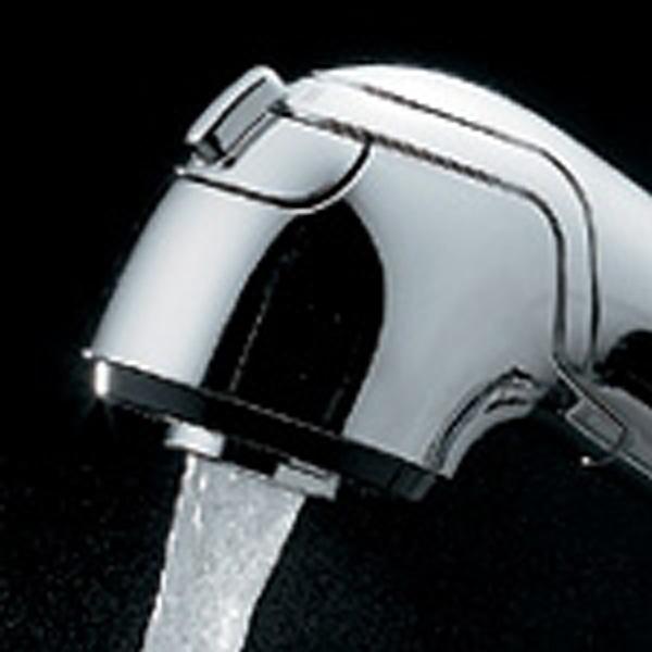 カクダイ シングルレバー混合栓 184-022K(引出シャワー付)【寒冷地用】