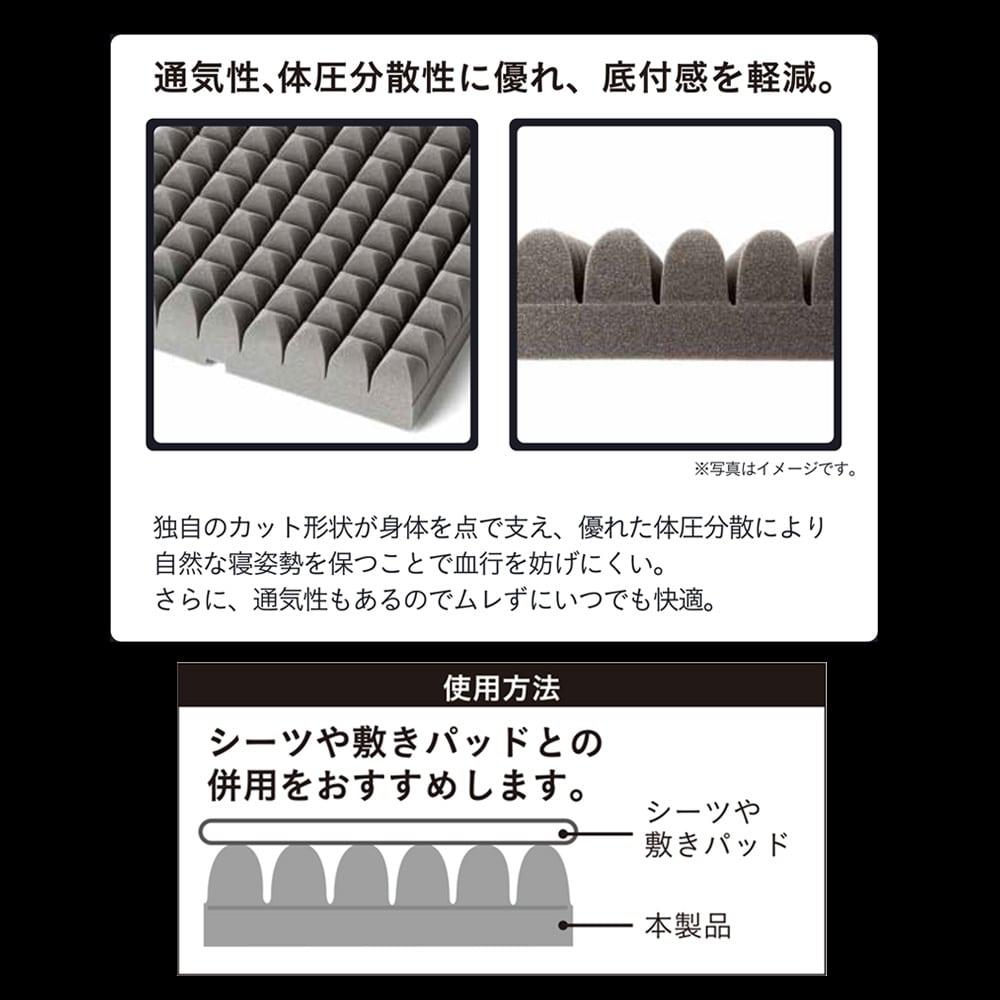 しっかり点で支えるマットレス シングル 100×200