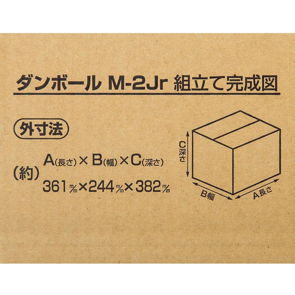 【10枚セット】100サイズ 段ボール箱M-2Jr. (361×244×382mm)×10枚[4549509096795×10]