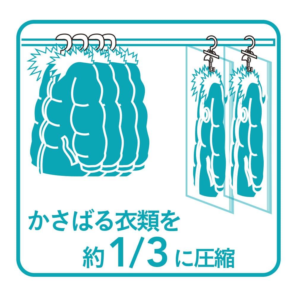 【数量限定】つるせるオートロックバルブ式衣類圧縮袋 M 2枚入り