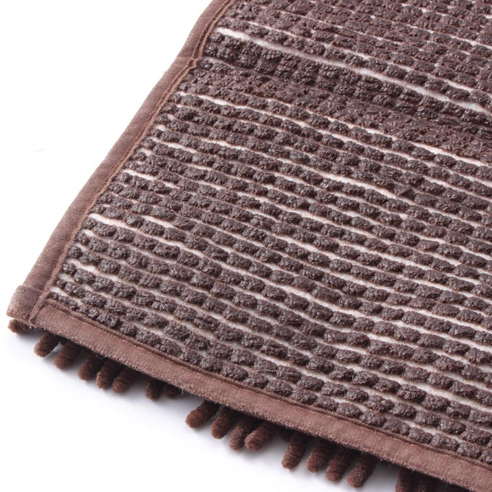 シェニールバスマット 35×50cm ブラウン