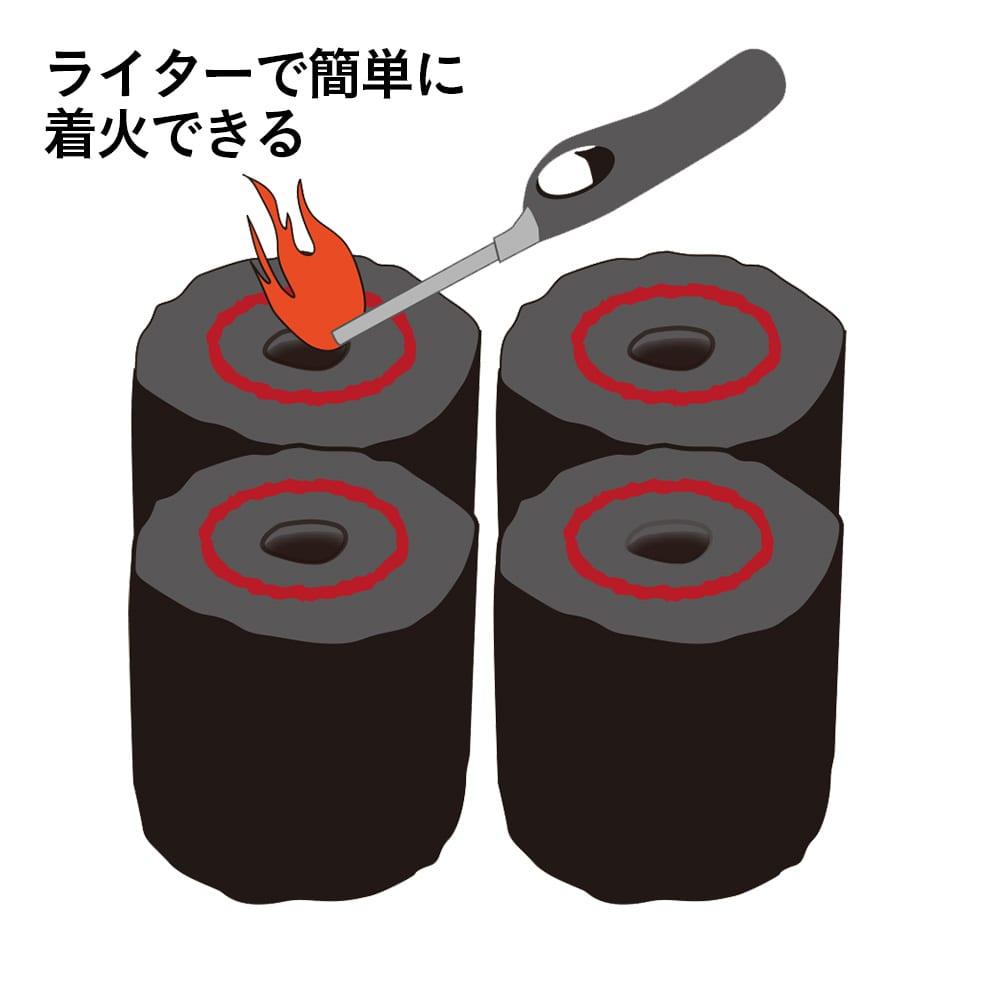 【数量限定】ライターで着火できる成型木炭30個入り
