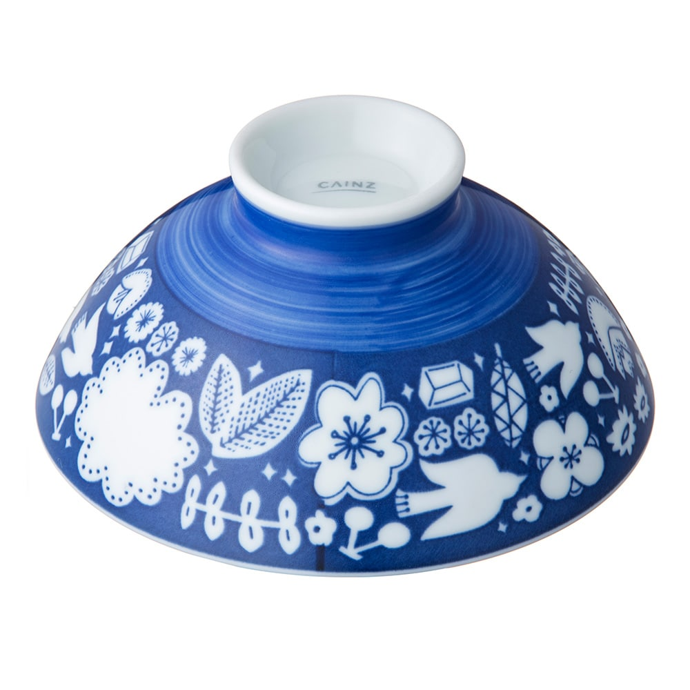 ごはんがつきにくい茶碗 大 hidamari ブルー