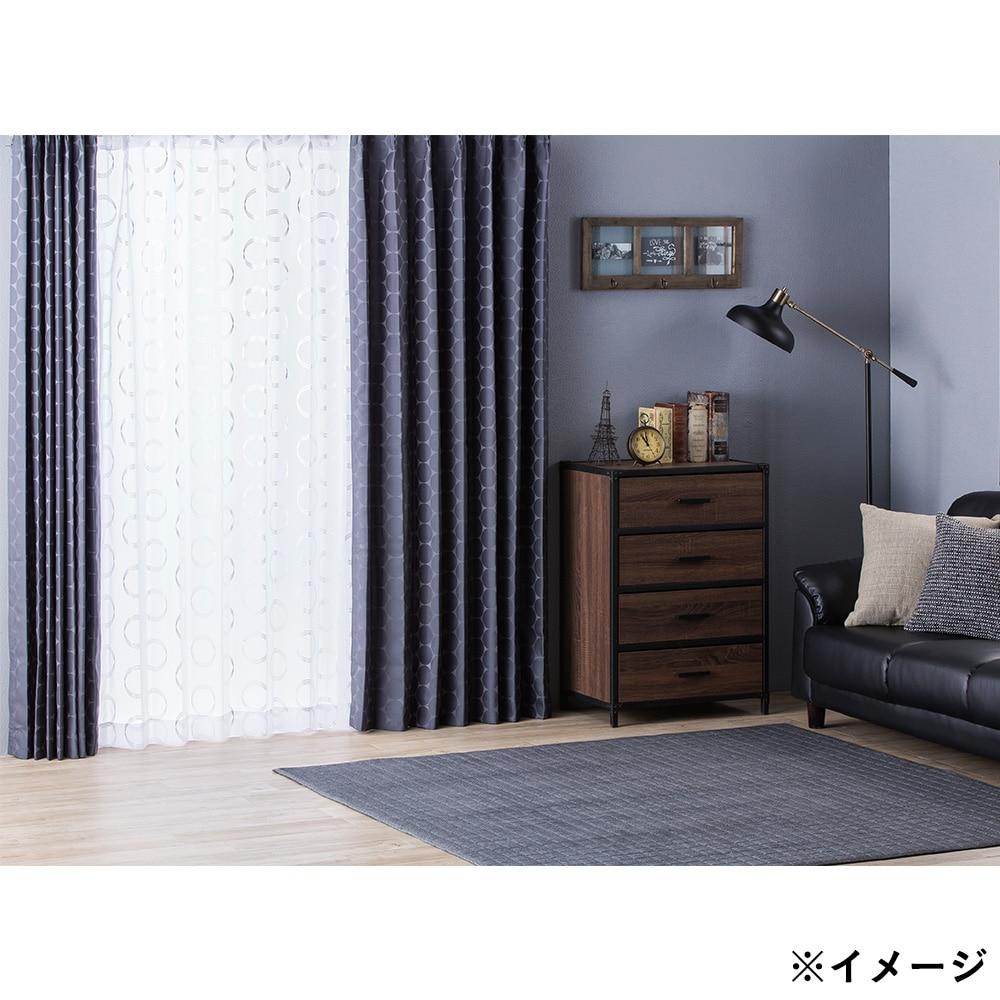 遮光性カーテン サークル ブラック 100×178 2枚組