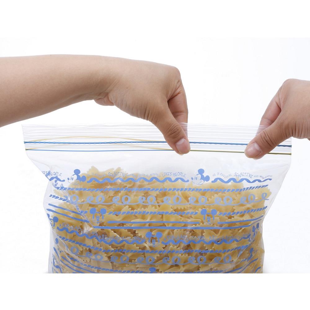 ダブルジッパー式 冷凍保存用バッグ 15枚入 ミッキーマウス