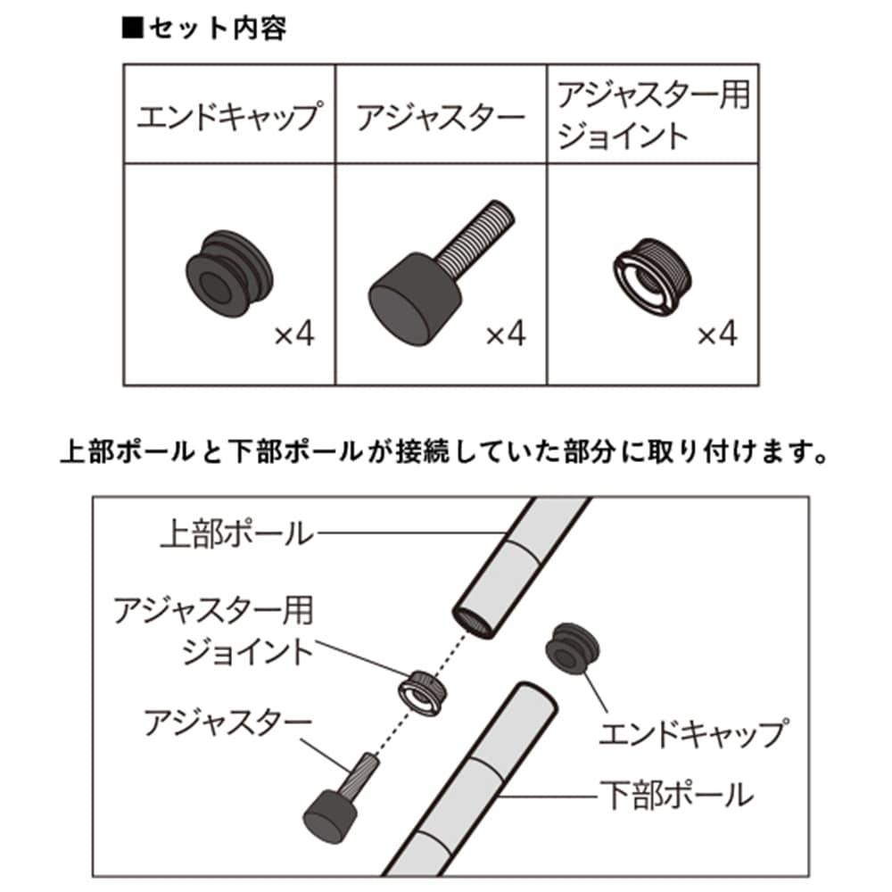 《ポール径19mm インテリアシェルフ》専用 分割パーツセット