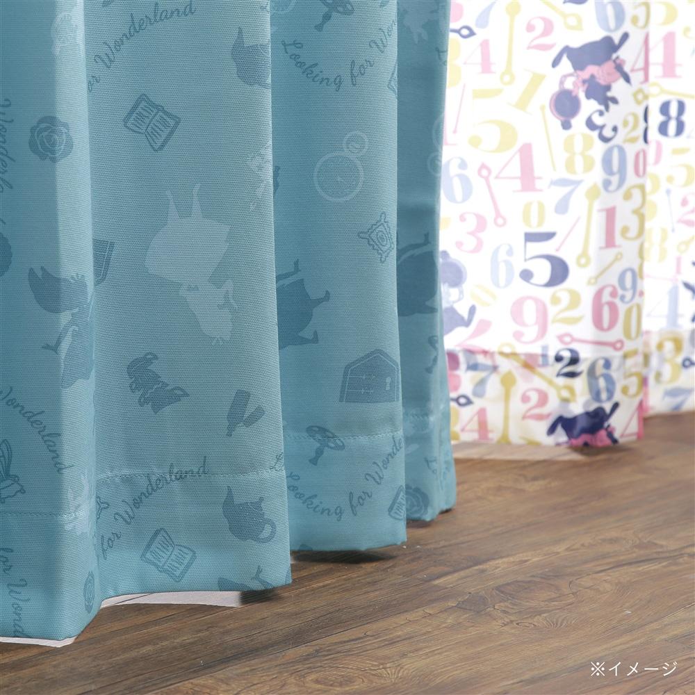ディズニー カーテン 不思議の国のアリス 100×178cm 2枚組【別送品】