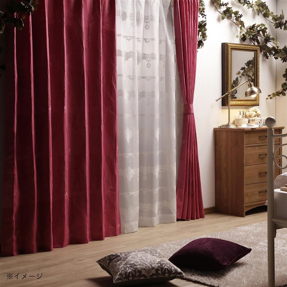 ディズニー レースカーテン 眠れる森の美女 100×175cm 2枚組【別送品】