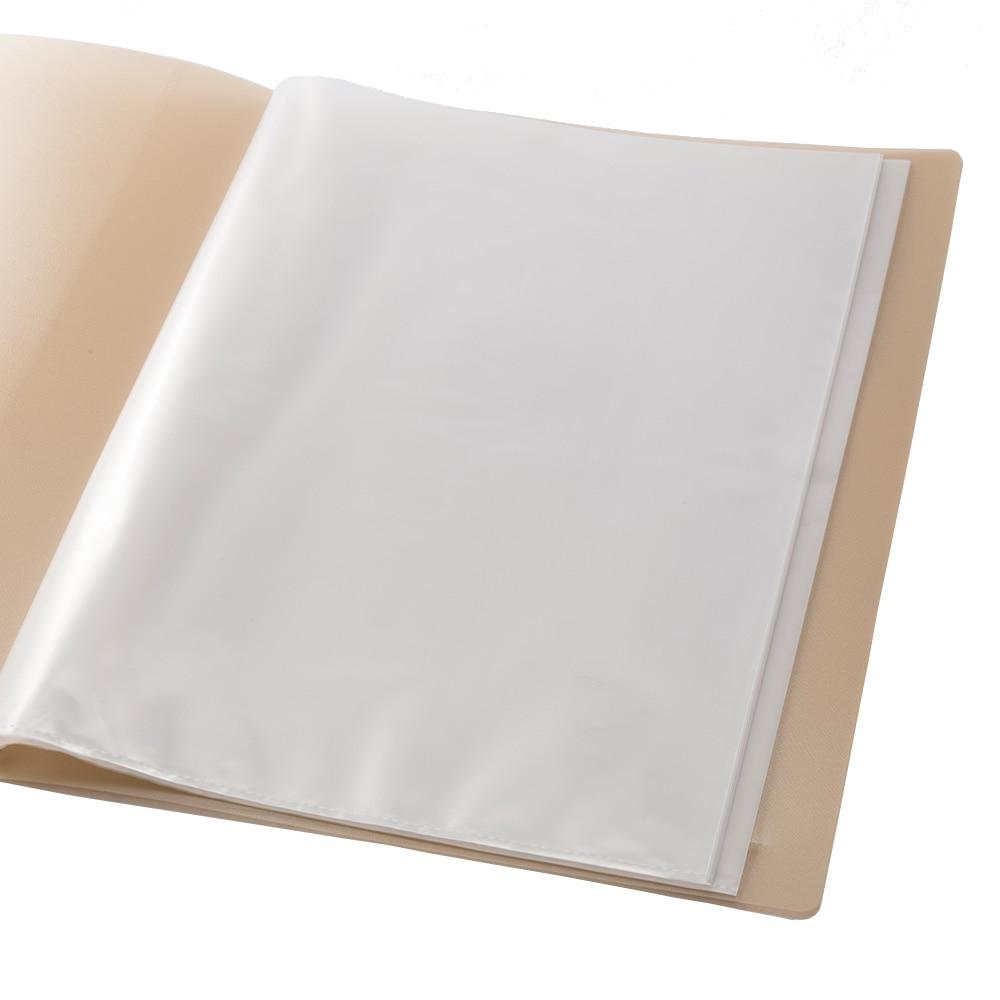 汚れがつきにくいクリアブック A4 10P ナチュラル