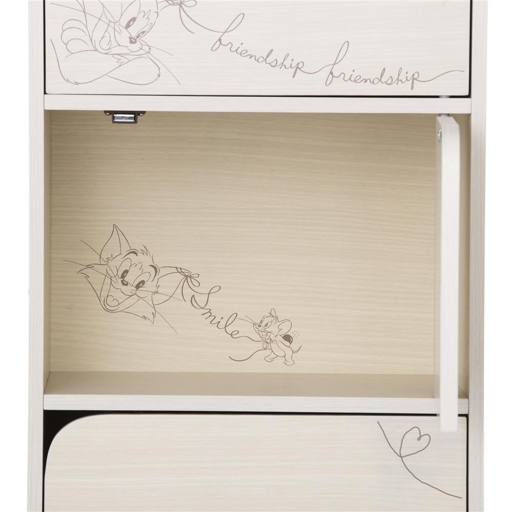 カラーボックス WB ドア付3段収納ボックス ホワイト