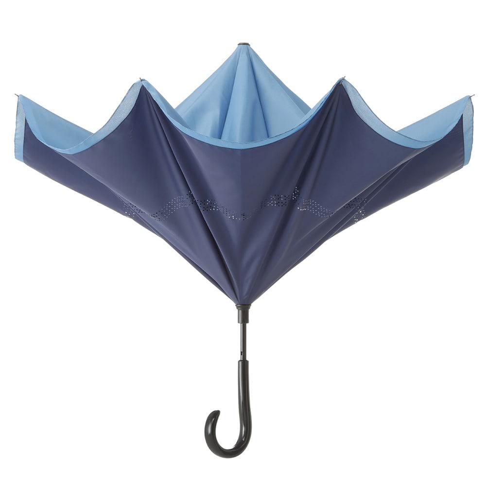 逆さ傘 60cm ブルー/ネイビー