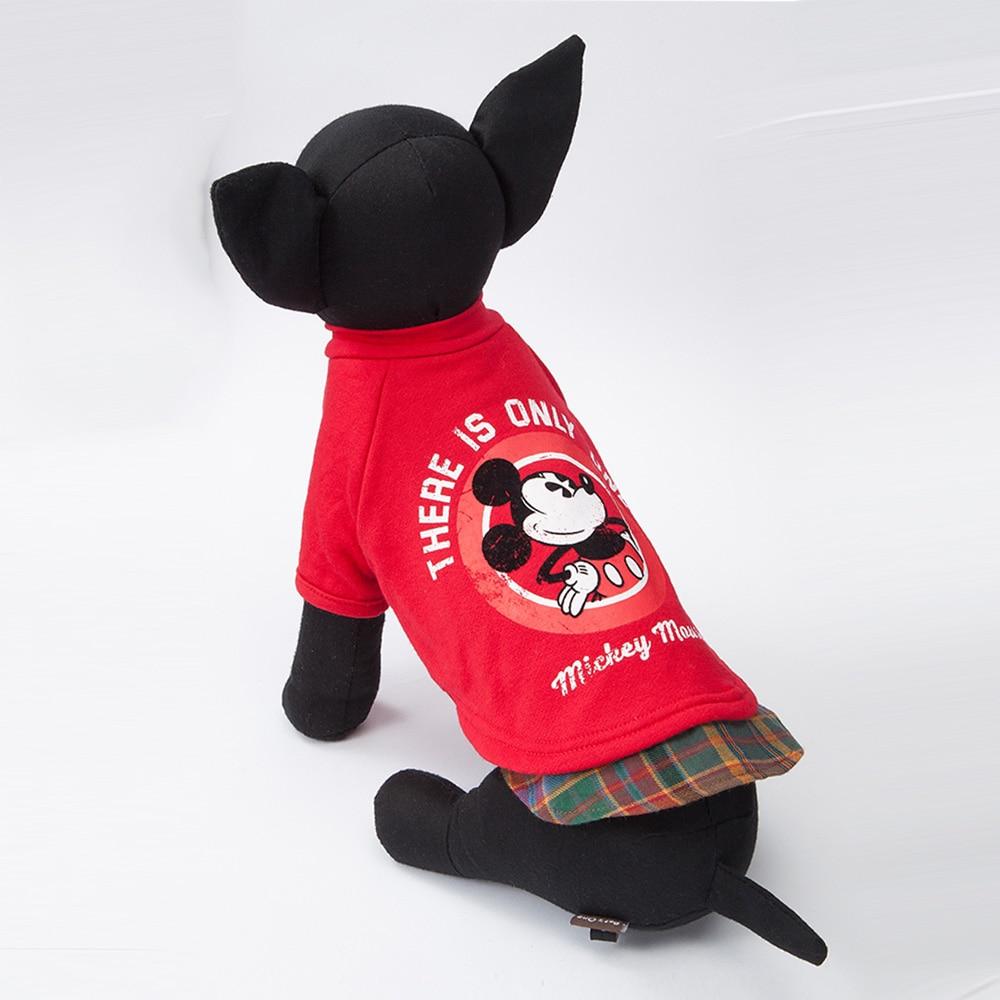 レイヤード風トレーナー ミッキーマウス レッド L