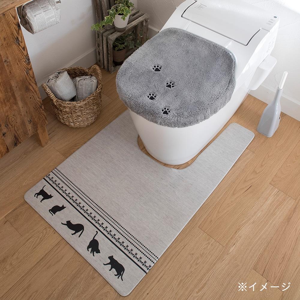 【数量限定】シートで拭ける耳長トイレマット ネコ