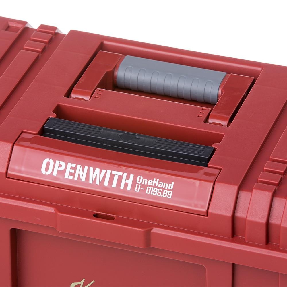 Kumimoku 道具がさびにくいワンタッチ工具箱 レッド