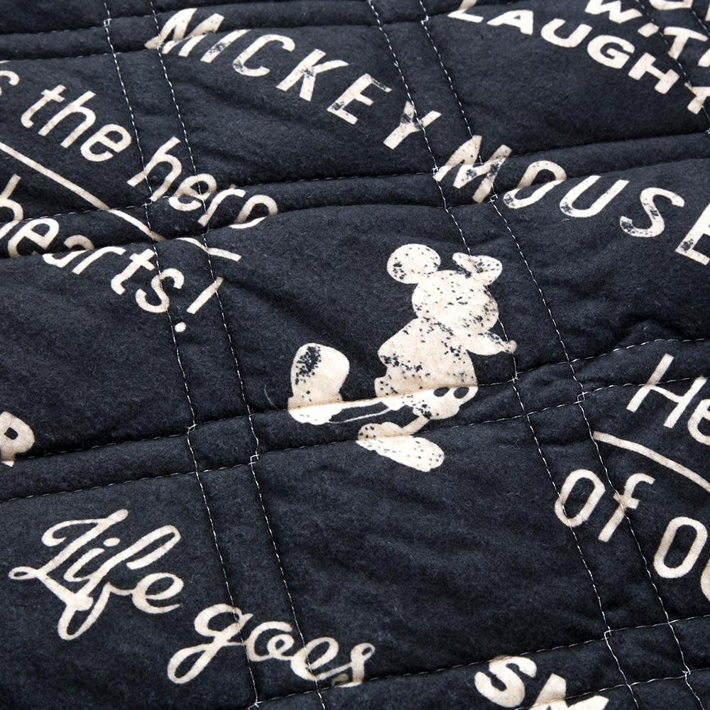 敷きパッド 綿フラノミッキー セミダブル 120×200
