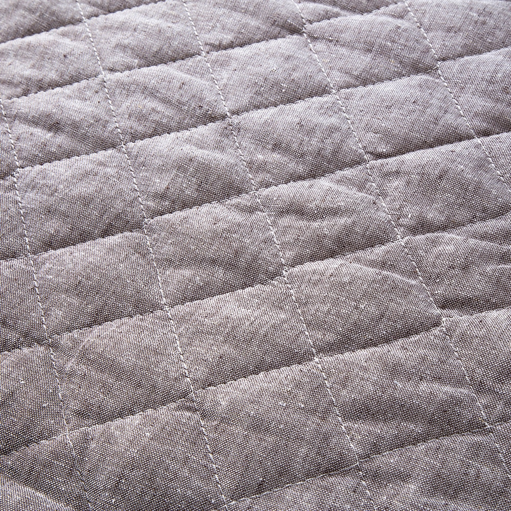 敷きパッド 綿麻 ブラウン ダブル 140×200