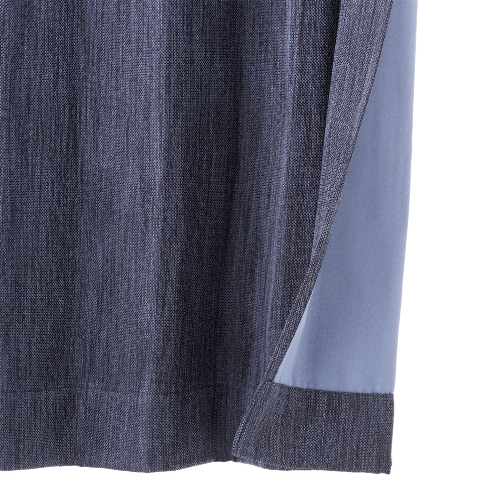 遮光性4枚組セットカーテン ブラウ 100×110 ネイビー